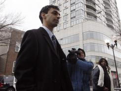 Former Rutgers University student Dharun Ravi arrives for his trial Friday in New Brunswick, N.J.