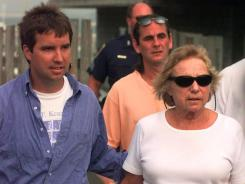 Ethel Kennedy, right, and Douglas Kennedy, left, return from an afternoon sail July 19, 1999, in Hyannis Port, Mass.