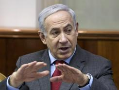 Israeli Prime Minister Benjamin Netanyahu convenes the weekly Cabinet meeting Sunday in Jerusalem.