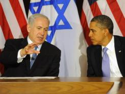 President Obama meets with Israeli Prime Minister Benjamin Netanyahu on Sept. 21 in New York City. They will meet Monday at the White House.
