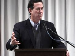 Santorum: Another Catholic seeking the presidency.