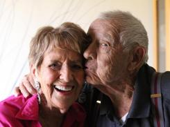 Lillian, 95, and Allan Marks, 98, were married Wednesday at the Riverside County Administrative Center in Indio, Calif.