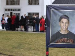Hundreds showed up for Daniel Parmertor's wake at Monreal Funeral Home in Eastlake, Ohio, on Friday. Parmertor and two others were fatally shot Monday at Chardon High School.