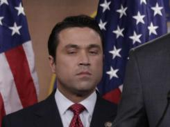 Representative Michael Grimm during an April news conference in Capitol Hill.