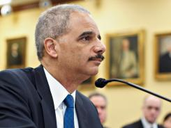 U.S. Attorney General Eric Holder testifies Feb. 28 on Capitol Hill.