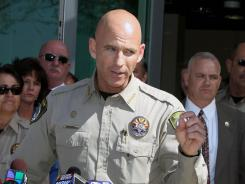 Pinal County Sheriff Paul Babeu speaks at a news conference in Florence, Ariz.