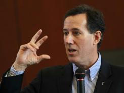 "Santorum: Says John F. Kennedy's 1960 speech about the separation of church and state ""put American civilization at risk."""