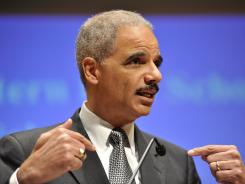 Attorney General Eric Holder speaks at the Northwestern University law school on March 5.