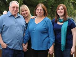 Baby Boomer Paula Goldie, second from right, faces a complicated inheritance picture with her father's family, but also has a blended family. From left, Dick Goldie, stepdaughter Melita (Goldie) Johanningmeier, Paula and daughter Hattie Goldie.