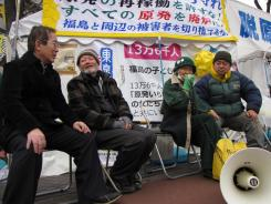A group of anti-nuclear activists have maintained a tent protest since September in Tokyo.