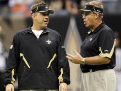 In 2010: New Orleans Saints coach Sean Payton and defensive coordinator Gregg Williams.