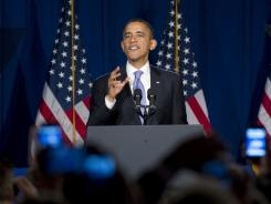 President Obama speaks at a Democratic fundraiser at ABC Kitchen in New York on March 1.
