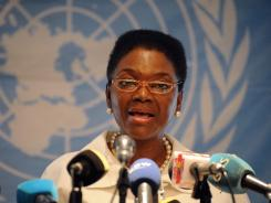 U.N. humanitarian chief Valerie Amos visits Syria as President Bashar Assad defies mounting international pressure to end the year-old crackdown on an uprising against him.