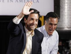 Mitt Romney campaigns with Puerto Rico Gov. Luis Fortuno in Florida in January.