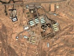 This satellite image shows a military complex on Aug. 13 2004, in Parchin, Iran.