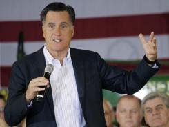 Republican presidential candidate Mitt Romney speaks at a campaign stop at the Mississippi Farmers Market on Friday.