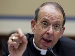 William Lori, Roman Catholic bishop of Bridgeport, Conn., speaks during an Oversight and Government Reform committee hearing on Capitol Hill on Feb. 16.