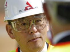 Secretary of Energy Steven Chu tours the Vogtle nuclear power plant during a visit Feb. 15 in Waynesboro, Ga.