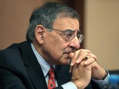 U.S. Secretary of Defense Leon Panetta meets with Kyrgyzstan officials on Tuesday in Bishkek.