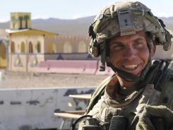 Army Staff Sgt. Robert Bales takes part in an exercise Aug. 23 at the National Training Center at Fort Irwin, Calif.