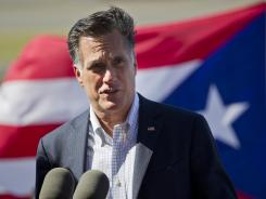 Mitt Romney speaks in San Juan, Puerto Rico, March 16.