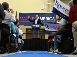 Rick Santorum speaks at Westminster Christian Academy Saturday in Town and Country, Mo.