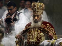 Pope Shenouda III leads Christmas prayers Jan. 6, 2008, at the Saint Mark Coptic Orthodox Cathedral in Cairo.
