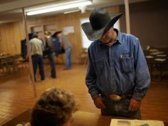 Election Day on November 4, 2008, in Lipan, Texas.