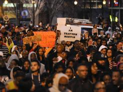 Thousands gather for the Million Hoodie March on Friday to support the family of Trayvon Martin.