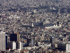 A view of Damascus, Syria.