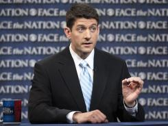 In this photo provided by CBS News, House Budget Chairman Paul Ryan, R-Wis., speaks Sunday during CBS' Face the Nation.