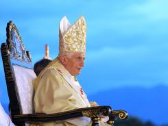 Pope Benedict XVI celebrates a Mass on Monday at Revolution Square in Santiago de Cuba.