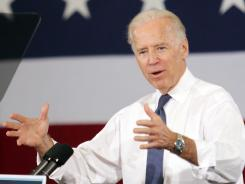 Vice President Biden speaks in Davenport, Iowa, on Wednesday.