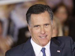 Romney:  Running for president.