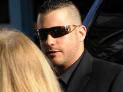 "Robert Zimmerman Jr., the brother of George Zimmerman, arrives for an interview on CNN's ""Piers Morgan Tonight"" in Hollywood on Thursday."