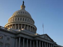 A Vancouver, Wash., man is accused of sending threatening letters laced with white powder to lawmakers on Capitol Hill.