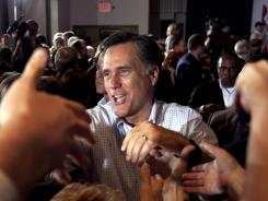 Romney: Exit polls show that about 30% of evangelicals have been voting for him in primaries. Maryland, Wisconsin and Washington, D.C., will hold theirs Tuesday.