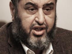 Muslim Brotherhood leader Khairat el-Shater speaks during an interview in Cairo, Egypt.