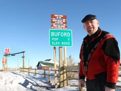 Don Sammons is Buford's sole resident and will sell the town by auction.