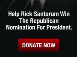 GOP presidential hopeful Rick Santorum recently released an online ad.