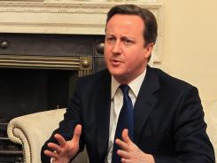 Britain's Prime Minster David Cameron at his London residence on 10 Downing Street in March.