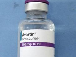 This undated file photo provided by Genetech shows a counterfeit vial of the cancer drug Avastin.