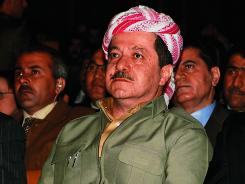 Kurd leader Masoud Barzani attends a ceremony Feb. 13, 2005, in Arbil.