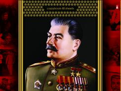 "A school notebook cover depicts Soviet dictator Josef Stalin in the ""Great Russian"" series."