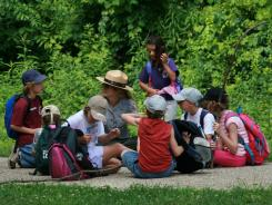 A ranger leads a youth program at Indiana Dunes National Lakeshore.