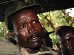 Joseph Kony responds to media in Southern Sudan.