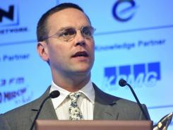 British Sky Broadcasting said on Tuesday that James Murdoch had stepped down as chairman.