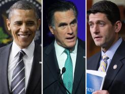 President Obama, Mitt Romney and Paul Ryan have put some spin on the federal budget.
