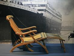 A rare original deck chair from the Titanic, the signature artifact of the permanent Titanic exhibit at Halifax's Maritime Museum of the Atlantic.