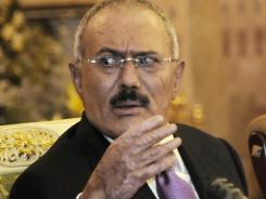 Key security officials appointed by ex-president Ali Abdullah Saleh, shown here, were fired by Yemen's new president a day before the attacks.